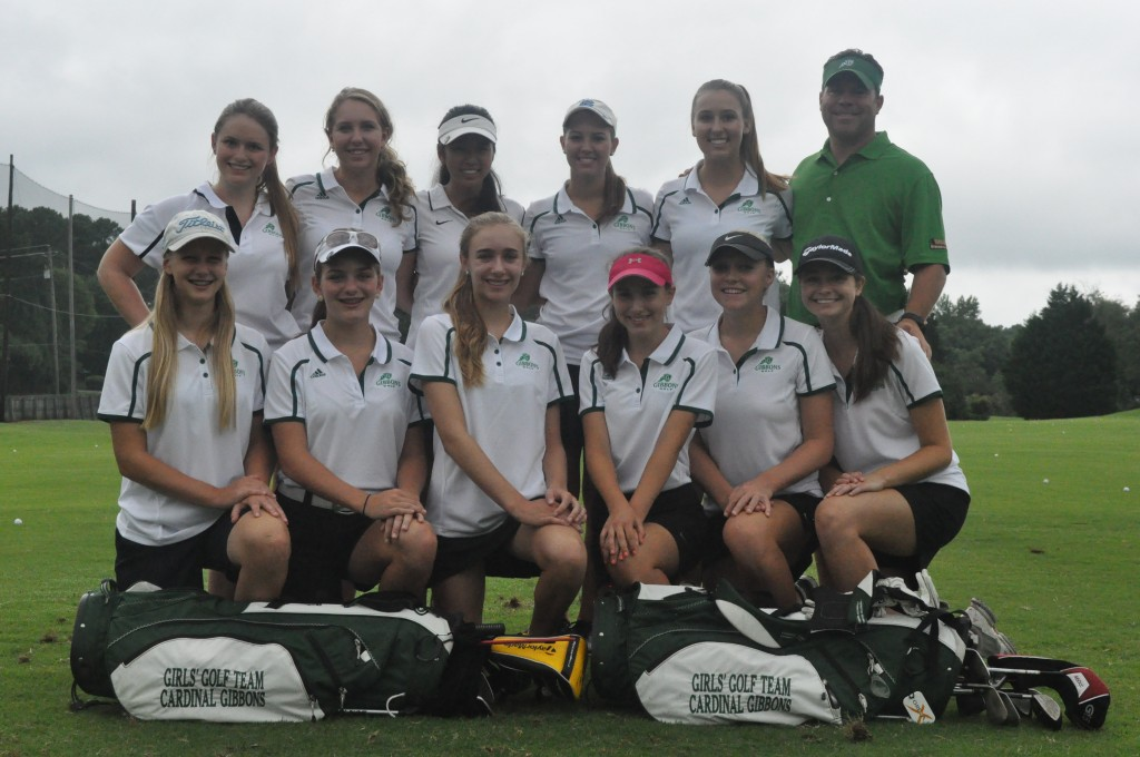 The 2014 Cardinal Gibbons Varsity Women's Golf Team